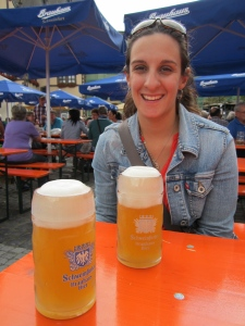 Me at the Festival with our Brauhaus Schweinfurt Hefe Weisen